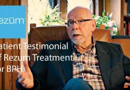 Patient Testimonial of Rezum Treatment for BPH