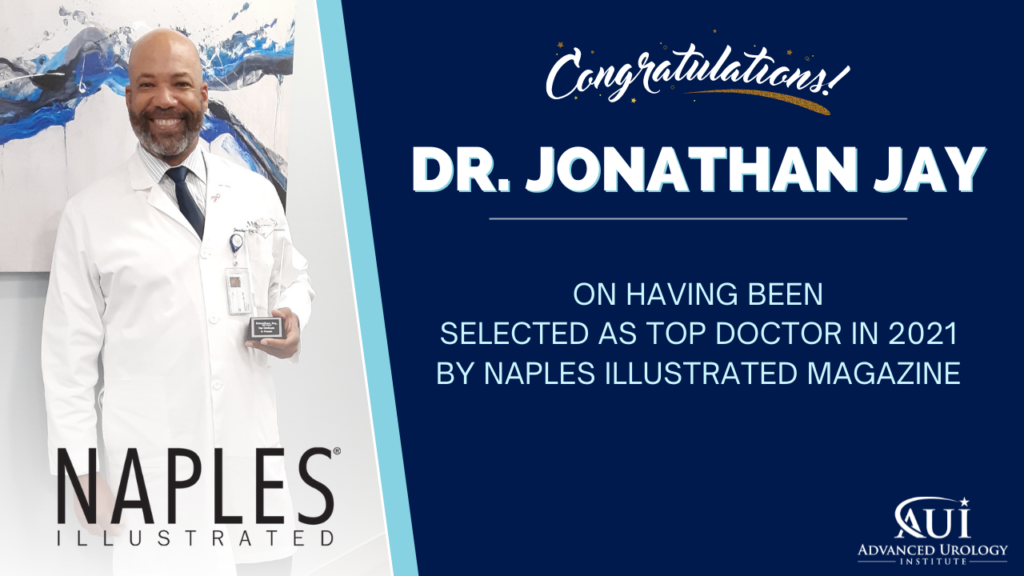 Congratulations to Dr. Jonathan Jay for being selected as Top Doctor in 2021 for Naples Illustrated Magazine